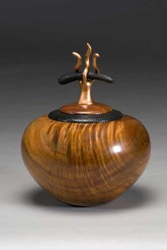 "*Wood Sculpture - ""Curly Koa Uprising"" by Timothy Allen Shafto"