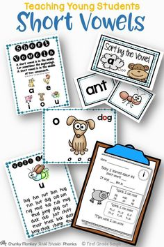 Young students need to master short vowels to become successful readers! This unit has everything you need to teach all of the short vowels- from mini-lessons and word banks to independent work and literacy center activities. $