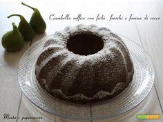 Ciambella soffice con fichi freschi e farina di cocco  #ricette #food #recipes