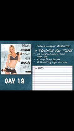 Zuzka # 19 Crossfit, Daily Workouts, Moda Fitness, Burpees, Academia, Workout Programs, Calendar, Nutrition, Beachbody