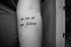 I have always wanted a tattoo, but can't commit to one thing forever...though I love the idea of a few motivational words.