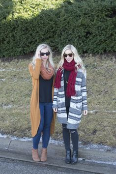 The Maxi Cardigan | Fashion Column Twins