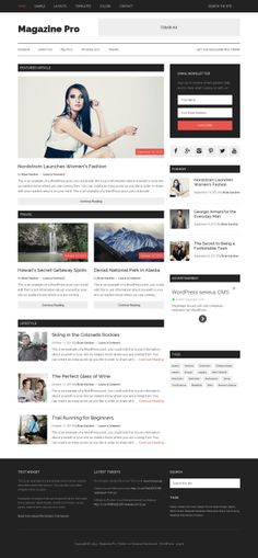 StudioPress Magazine Pro is a responsive WordPress theme for online magazine and news sites. Magazine Pro features a fully widgetized homepage and additional promotional space between posts and the comments area. Please note that you need to Genesis Framework to use this theme.