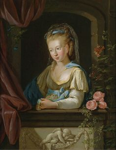 Georg Melchior Kraus - Portrait Of A Young Lady