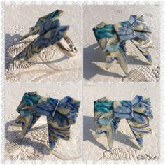 Origami Paper Bow ring