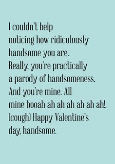 Items Similar To Youre Handsome Valentine Card Funny New Relationship Awkward On Etsy