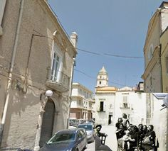 Giuseppe Mazzini street, San Severo, Italy, as my father saw it during World War Two and a photo of the same place today. Present day photo courtesy of Saverio d'Incalci, San Severo, Italy | World War Two