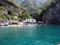 Da Adolfo (little restaurant on little beach) just a short boat trip from Positano. (from Elizabeth Minchilli in Rome)