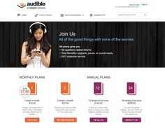 Audible Pricing Table UX #pricingtable #ux #design #audible