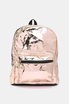 Add some shine to your look with this mini faux leather backpack with adjustable straps. The perfect size to fit all your festival needs including a water bottle, sunscreen, lip gloss, and your wallet. Festival Fashion, Festival Style, Faux Leather Backpack, Mini Backpack, You Bag, Fashion Backpack, Backpacks, Zipper, Pocket