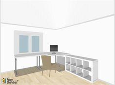 Minimalist corner desk setup ikea linnmon desk top with adils legs