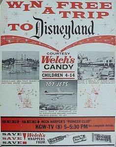 DISNEYLAND WELCHS POSTER ~ by grickily, via Flickr