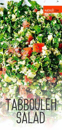 Tabbouleh Salad Recipe Spicy Recipes, Greek Recipes, Dairy Free Recipes, Pork Recipes, Fish Recipes, Baby Food Recipes, Mexican Food Recipes, Appetizer Recipes, Salad Recipes