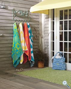 Patio Hooked Indoor Outdoor Rug By Company C 135 For Runner In Orange Pool