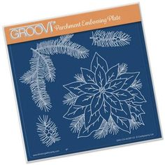 Groovi Plate - Jaynes Poinsettia - - A great range of Groovi Plate Jaynes Poinsettia from The Art of Craft Embossing Tool, Crochet Supplies, Arts And Crafts, Paper Crafts, Parchment Craft, Clever Design, Craft Shop, Plate Sets, Crochet Crafts
