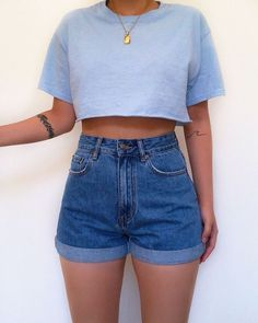 Source by teaganmacnaught Outfits verano Casual Shorts Outfit, Cute Casual Outfits, Short Outfits, Simple Outfits, Stylish Outfits, Amazing Outfits, Hijab Outfit, Casual Jeans, White Outfits