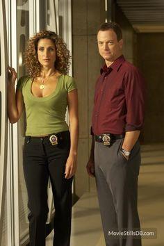 Melina Kanakaredes and Gary Sinise in CSI: New York