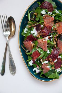 Citrus Salad with Honey Chèvre and Hazelnut Vinaigrette | Annie's Eats