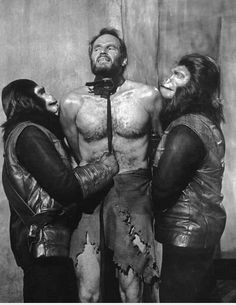"""Planet of the Apes (1968) Charlton Heston """"Take your stinking paws off me, you damned dirty ape!"""""""