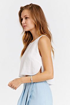Silence + Noise Cropped Shell Tank Top - Urban Outfitters