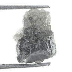 1.20 ct Natural loose Diamond Rough Natural Shape Silver Gray Color