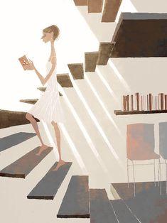 """Seguindo na onda de ilustradores legais segue alguns trabalhos do japônes (capaz?!) Tadahiro Uesugi. No """"continue reading"""" tem mais algumas imagens e no site del..."""
