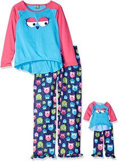 Dollie  amp  Me Little Girls  Owl Face Sleepwear Set 2b9519ca9