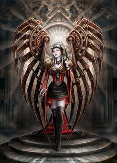 Anne Stokes | Steampunk angels, 3 | 亗 Dr. Emporio Efikz 亗