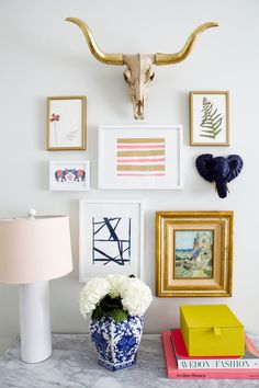 Mix and match gallery wall