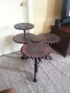 Steampunk coffee table. I'm going to make one of these