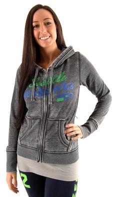 Seahawks Retro Lady's  Full Zip Hooded Sweatshirt by NWFanGear