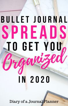 Bullet Journal Organization Layouts That Will Change Your Life! Easy Bullet Journal Spreads to get Organized in all areas of your life. Bullet Journal For Beginners, Bullet Journal How To Start A, Bullet Journal Spread, Bullet Journal Layout, Bullet Journal Inspiration, Bullet Journals, Planner Template, Printable Planner, Planner Stickers
