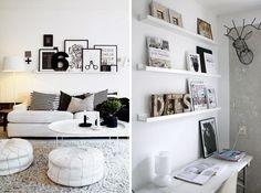ikea ribba shelves racks ikea hacks makeover - ikea smalle plankjes fotolijstjes presenteren foto's