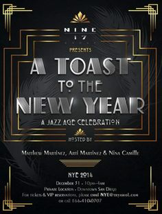 Art Deco New Year's Eve Flyer