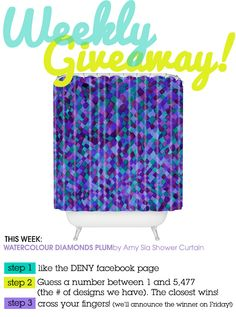 Weekly Giveaway! Enter to win this Amy Sia shower curtain over on our FB page.