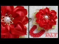 ♡ ❀ ♡ D.I.Y. Heart Shaped Petal Kanzashi Valentine's Day Flower ♡ ❀ ♡