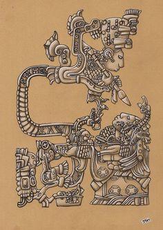 Risultati immagini per mayan art Aztec Pictures, Mayan Tattoos, Indian Tattoos, Azteca Tattoo, Aztec Tattoo Designs, Aztec Warrior, Mexico Art, Chicano Art, Chicano Tattoos