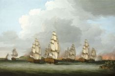 A British fleet forced the complete destruction of the American fleet that had besieged Fort George, on this day in maritime history, 13 August 1779. Britain called for reinforcements, and on 13 August when the 40 American ships decided to launch a naval attack on the fort, 10 British warships led by George Collier arrived in Penobscot Bay.