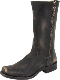 "FRYE Men's Heath Outside Zip Boot FRYE. $278.00. 100% Authentic. leather. Made in Mexico. Boot opening measures approximately 15 1/2"" around. Please refer to description below for measurement details.. Shaft measures approximately 12"" from arch. Leather and rubber sole"