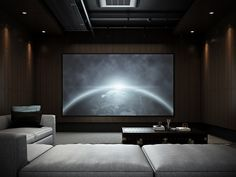 Home Theater Room Design, Home Cinema Room, Best Home Theater, Home Theater Rooms, Home Theater Seating, Home Theaters Pequenos, Small Media Rooms, Small Home Theaters, Media Room Design
