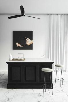 Carrelage En Marbre Blanc Pour La Cuisine Chic, Meubles De Cuisine Chic My  House,