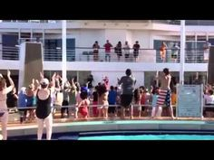 Zumba on Celebrity Cruise Ship! Also on Princess Cruises. No charge for the fun class. Stay in shape as you celebrate ---------