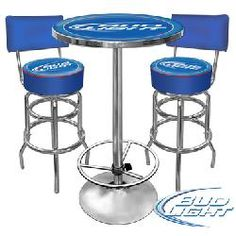 Bud Light Barstools and Table