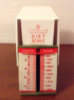 Vintage Sterling Adjustable Diet Scale | eBay