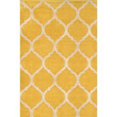 Antique Transitional Yellow Cream Area Rug (7'10 x 10'10)