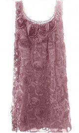 Pretty Angel Clothing Women's Vintage Rosette Tunic In Mauve