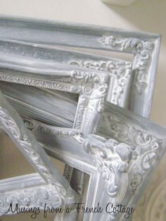 DIY: How To Get A French Paint Finish - using spray paint and gesso. This is such an easy project that looks amazing!