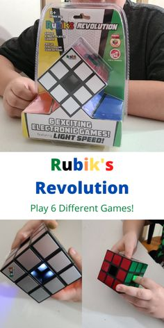 The Rubik's Revolution Electronic Game is a lot of fun to play. It keeps my kids entertained for a while. Science Fair Experiments, Activities For Kids, Crafts For Kids, Boys And Girls Clothes, The End Game, Hobbies And Interests, Different Games, Ready To Play, All Games