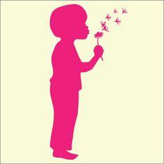 SMT-FD.0025 Mylar Stencils & Masks - Blowing Dandelions (boy)