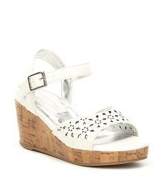 deb148f5d37545 Badgley Mischka Girls  Pernia Satin Pearl Bow Block Heel Sandals ...